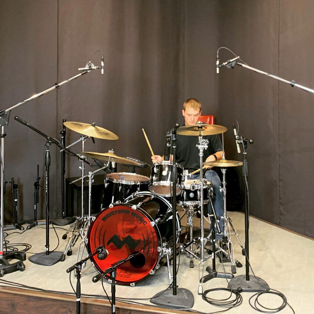 Luke tracking drums